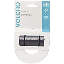 VELCRO Brand - ONE-WRAP Roll, Double-Sided, Self Gripping Multi-Purpose Hook and Loop Tape, Reusable, 12' x 3/4 Roll - White