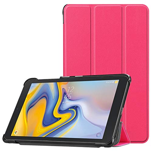 (Cywulin Folio Smart Case for Samsung Galaxy Tab A 8.0, Slim Leather Shell Stand Folding Trifold Magnetic Cover Lightweight for Galaxy Tab A with S Pen 8.0 2019 Release Tablet SM-P200 SM-P205 (Pink))