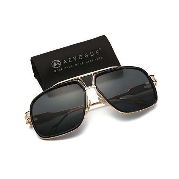 38b239c49ed AEVOGUE Aviator Sunglasses For Men Goggle Alloy Frame Brand Designer AE0336