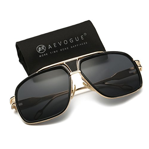 AEVOGUE Aviator Sunglasses For Men Goggle Alloy Frame Brand Designer AE0336