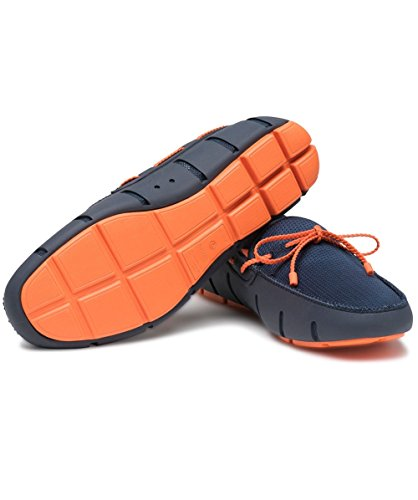 navy Loafer Swims Uomo Mocassini Blu 128 orange Braided Lace CfwqwxZY