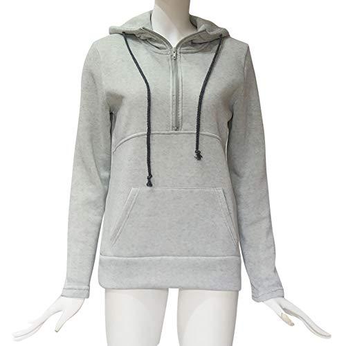 Pepe Jeans Jackets - 1/4 Zip Sweatshirt, Clearance! Duseedik Fashion Women Casual Solid Zipper Long Sleeve Sweatshirt Jumper Pullover Blouse