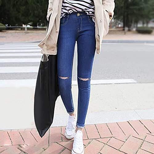 Denim da Pantaloni Denim Jeans Uomo Jeans Donna Erduo Skinny Pantaloni Donne Casual Stretch da Wear Skinny da per Le x8wqA0