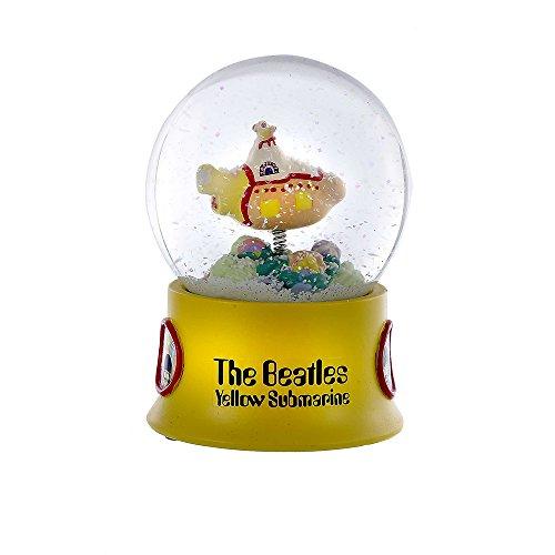 Kurt Adler Submarine Water Globe, 100mm, Yellow Beatles Yellow Submarine Ornament