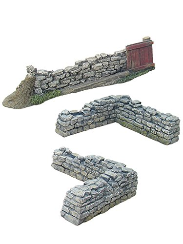 - Britains Civil War, American Revolution Scenics Collection 17812 - Gate & Corner Stonewall Section 1/30 Scale Painted Metal/Resin Toy Soldier Diorama Accessories Compatible with Thomas Gunn Collectors Showcase Frontline King Country