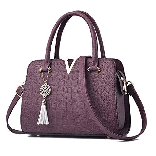 Capacidad Pink del Bolso Bolso Crossbody Color Bolso Suave Purple La del Generosa De Ocio Bolso Mujer Alta del La Cruzado De De del Bolso w8zqwS