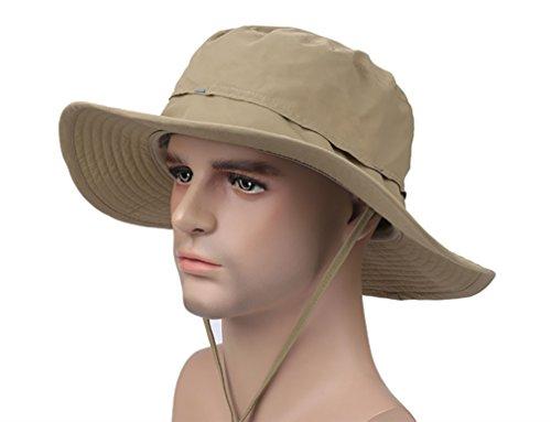 Outdoor Bucket Hat Hunting Fishing Camping Hiking Sun Cap(Khaki)