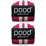 Munhequeira Crossfit Pood Wrist Wraps HD - Rosa e Branco