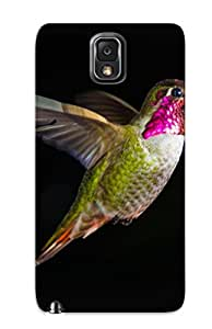 Freshmilk Top Quality Rugged Hummingbird Bird Black Case Cover Deisgn For Galaxy Note 3 For Lovers