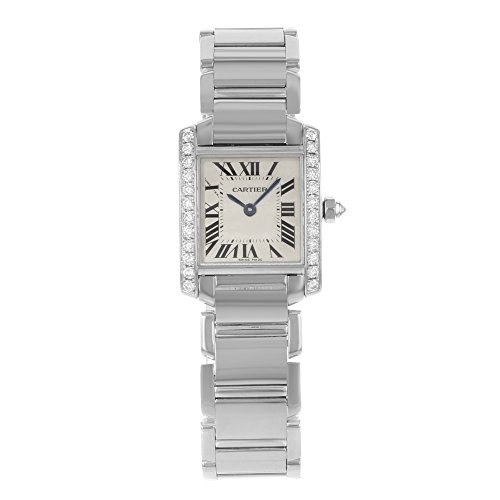 - Cartier Tank Francaise 18kt White Gold Diamond Ladies Watch WE1002S3