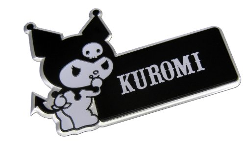 Kuromi Hello Kitty Black White Aluminum Car Emblem Badge Rare Japan JDM for Honda Accord Infiniti Toyota Nissan Mazda Mitsubishi