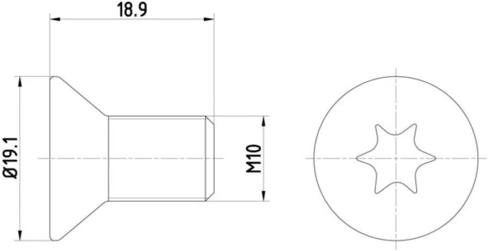 TPM0010 TEXTAR Schraube f/ür Bremsscheibe