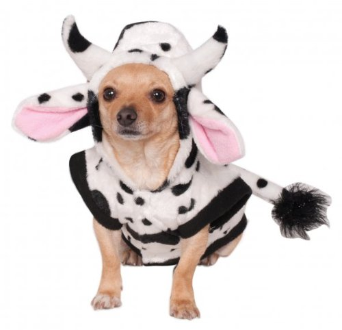 Dog Cow Costume (Rubies Costume Company Cow Pet Costume, Small)