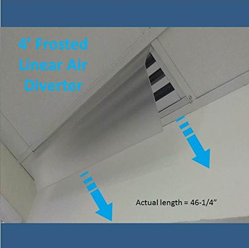 4' Long Frosted Linear Air Diverters (46-1/4
