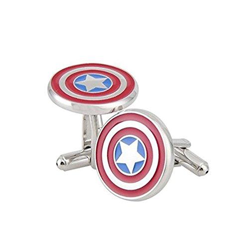 SuperBZ Captain America Cufflinks Marvel Comics Formal Wear