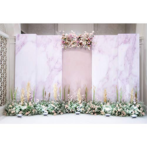 DORCEV Wedding Decoration Photography Backdrop Weding Ceremony Party Bridal Shower Party Background Colorful Flowers Floral Romance Marriage Dessert Table Banner Wedding Photo Studio Props]()