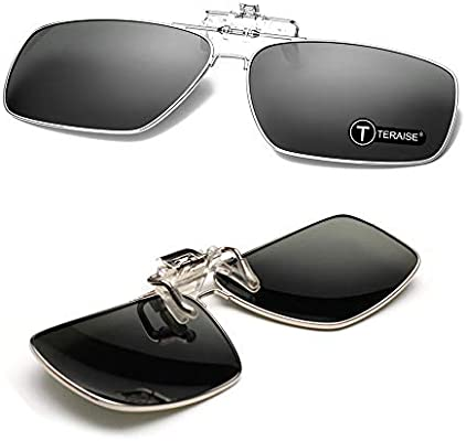 e1b8740a95 Amazon.com   TERAISE Polarized Clip-on Sunglasses with Flip Up Function  Suitable Driving Sports   Sports   Outdoors
