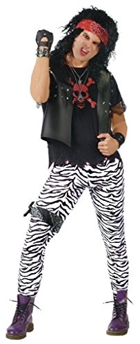 [Ponce Zebra Print Stretch Pants 80s Tights Black White Mens Rocker Punk] (80s Prom King And Queen Costume)
