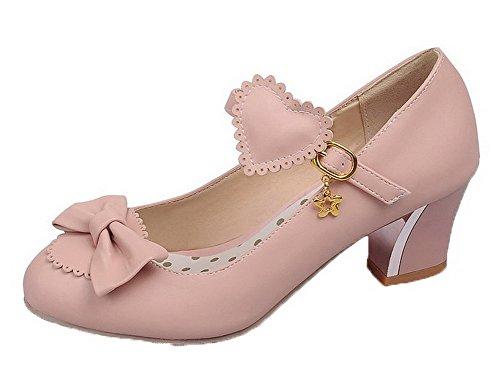 Ballet Medio Donna Tonda Puro Punta Rosa Fibbia Flats Tacco VogueZone009 Luccichio H8qZCxWZ