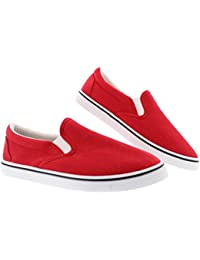 Men's Doug Memory Foam Canvas Shoes Casual Slip On Sneakers Laceless Loafer Skate Deck Plimsolls