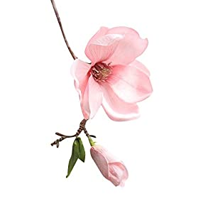 Artificial FlowersArtificial Fake Flowers Leaf Magnolia Floral Wedding Bouquet Party Home Decor Home Décor Products Artificial Plants Home Improvement Floral Picks 41