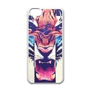 Tiger Roar Cross ZLB514405 Unique Design Phone Case for Iphone 5C, Iphone 5C Case