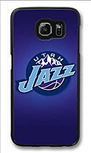 S6 Case, Galaxy S6 Case, Customize Samsung Galaxy S6 Hard Plastic Black Case Protection Shockproof Case Cover for New Galaxy S6 2015 - Utah Jazz