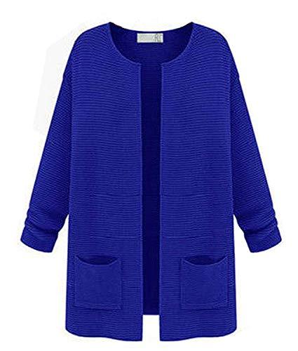 Lunghe Cheap Da Jacket Nuovo Outerwear Moda A Cardigan Primavera Primaverile Blau Maglia Curvy Fine Donne Mercato Giacche Buon Cappotto Il Autunno Donna Eleganti Giacca ZwpWFZfqHS