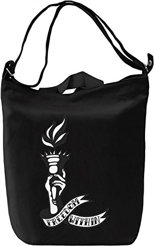 Freedom within Borsa Giornaliera Canvas Canvas Day Bag| 100% Premium Cotton Canvas| DTG Printing|