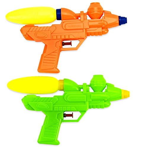 Funnovative 2 Water Guns for Kids, Large Capacity 10 inch Squirt Gun, Long Shooting Distance Soaker Toy Pistol for Pool, Beach and Outdoor Summer Party Favor Fun Games for Children and Adults (2 Pack)