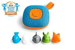 The first Spotify-enabled music and story player safe for toddlers 3 years old and up. Kids can listen to their favorite music simply by placing a character on the player, all screen-free. They do not need to use a smartphone or a tablet. Par...