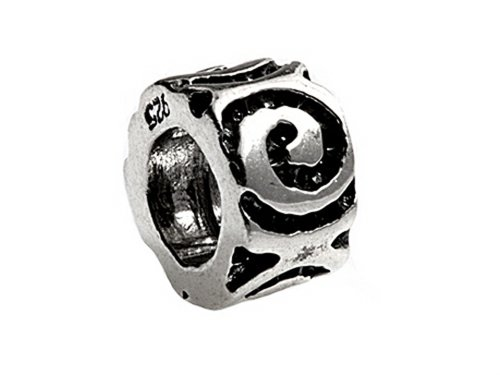 SilveRado Sterling Silver Eternal Spacer Bead / Charm (Bead Charm Silverado)