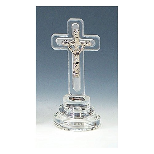 Crystal Religious Cross (Lighted Crystal Crucifix Cross Religious Favors)