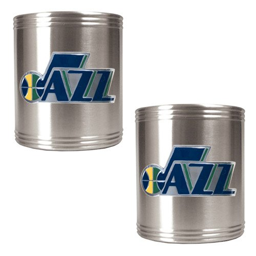 Great American Products NBA Utah Jazz Two Piece Stainless Steel Can Holder Set - Primary (Utah Jazz Two Piece)