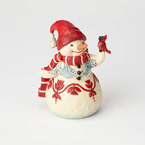 Enesco Jim Shore Heartwood Creek Pint Sized Snowman w Cardinal
