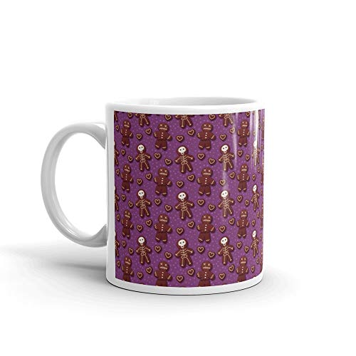 Halloween Gingerbread Pattern Nonna Coffee Mug 11 Oz Ceramic -