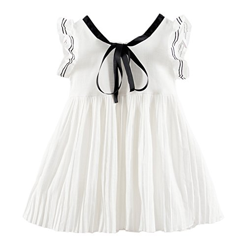 LittleSpring Little Girls' Dress Summer One-piece Size 3T (Girls Spring Dress)