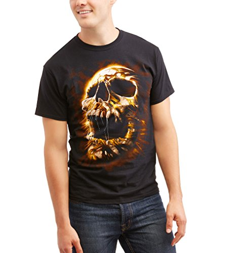 Halloween Mummy Face Black Graphic T-Shirt - Large