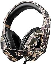 Tomshin KUBITE T-173 3,5 mm Fone de ouvido para jogos com fio Fone de ouvido de música Fone de ouvido para cancelamento de ruído com microfone e controle de volume mudo para smartphones PS4 Laptop Tab
