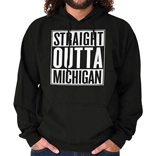 Classic Teaze Straight Outta Michigan State MI Movie Gift Hoodie Sweatshirt Black