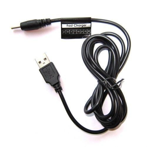2,5mm x 0,8mm USB Netzteil Ladekabel Ladegerät 5V 2A für Android Tablet (150cm)