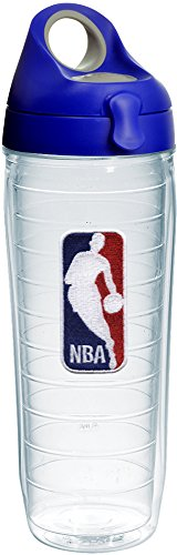 Tervis 1231056 NBA National Basketball Association Logo Tumbler with Emblem and Blue with Gray Lid 24oz Water Bottle, Clear by Tervis