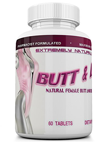 BUTT AND BUST Natural Breast & Butt Augmentation And Enlargement Pills - 60 Tablets (Double Potency, 2640 (Enlargement 60 Pills)