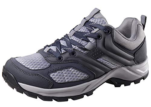 CAMEL CROWN Hiking Shoes for Women Trail Running Backpacking Walking Shoes Breathable Slip Resistant Sneakers Lightweight Athletic Trekking Low Top Boot Black 7B(M) US