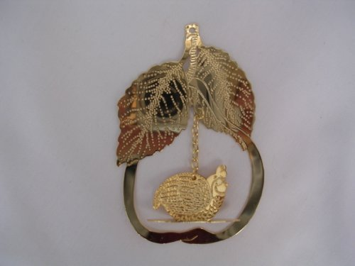 Partridge in a Pear Tree Brass Christmas Ornament 3