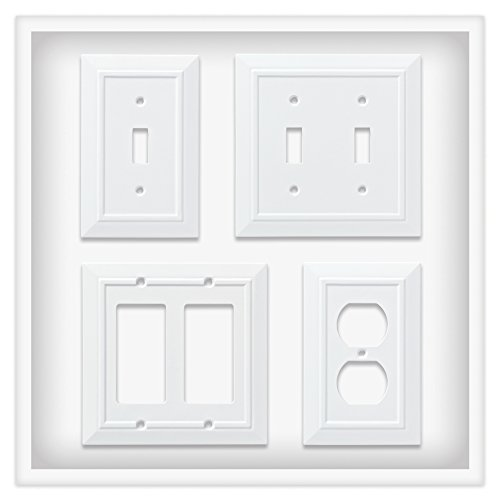 Franklin Brass W35242V-PW-C Classic Architecture Single Duplex Wall Plate/Switch Plate/Cover (3 Pack), White by Franklin Brass (Image #3)