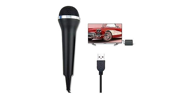 Kidoll Micrófono con Cable USB para Nintendo Switch/Wii/PS4/PC Karaoke Singing Game Mic: Amazon.es: Electrónica