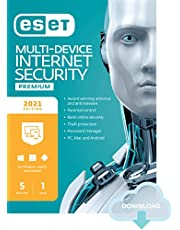 $59 » ESET Multi-Device Internet Security Premium   2021 Edition   5 Devices   1 Year   Antivirus Software   Password Manager   Privacy Protection   Antispam   Anti-Theft   Digital Download [PC/Mac/Android/Linux Online Code]