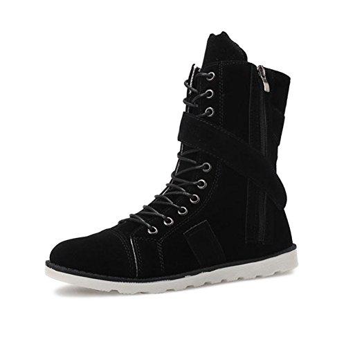 Botas de moda de verano de Martin/Simplicidad de la tendencia de zapatos de los hombres Negro