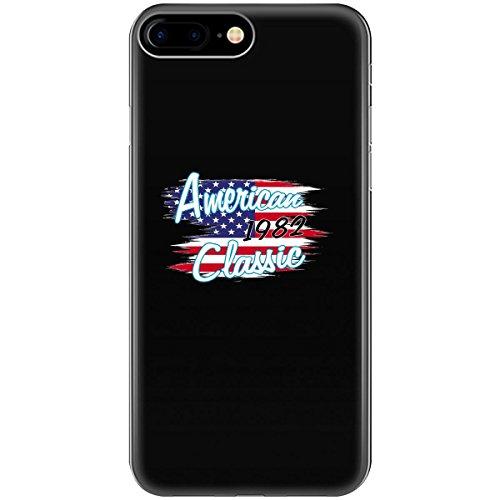 1982 Flag (1982 Birthday American 1982 Classic Us Flag Design Ttd1 - Phone Case Fits Iphone 6, 6s, 7, 8)